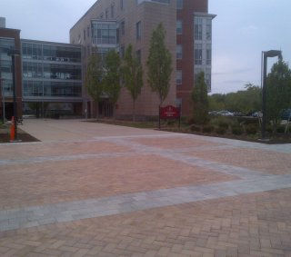 Bridgewater State University, South Eastern Massachusetts <br> Product: Hollandstone™ with Umbriano® finish Color: Autumn Sunset, Winter Marvel