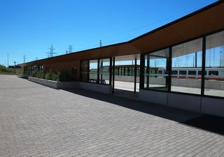 Cawthra Transit Station, Mississauga ON <br> Product: Il Campo® Color: Granite