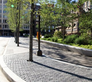 Public Square, Cleveland OH <br> Product: Copthorne® Color: Custom