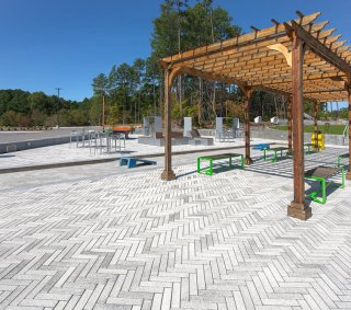 Parmer Research Triangle Park. Durham, NC<br>Product: Eco-Promenade® with Umbriano™ finish in Winter Marvel