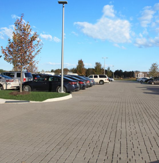 Cleveland Clinic parking lot, Avon OH <br> Product: Eco-Optiloc™ Color: Natural