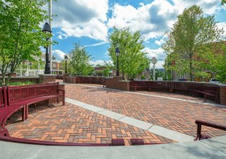 Diamond Park, Ligonier, PA | Product: Town Hall® in Old Oak, Burgundy Red, and a special-order color Red Ochre, and Beacon Hill XL with Smooth Premier finish in Opal