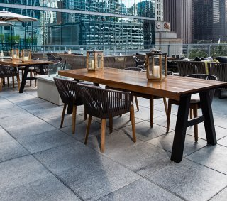 Loews Chicago Hotel, IL <br> Product: Umbriano® 24×24 Color: Midnight Sky, Winter Marvel