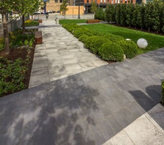 West Madison Pocket Park, Chicago IL <br> Product: Umbriano® Color: Winter Marvel, Midnight Sky