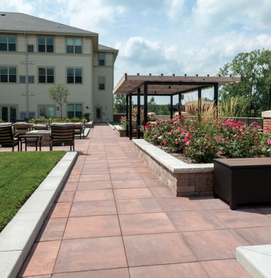 The Solana Retirement Community, IL <br> Product: Skyline™ with Smooth Premier finish Color: Heritage Brown