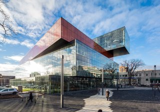 Halifax Central Library, Nova Scotia <br> Product: Series 3000® Color: Black Granite, Ice Grey
