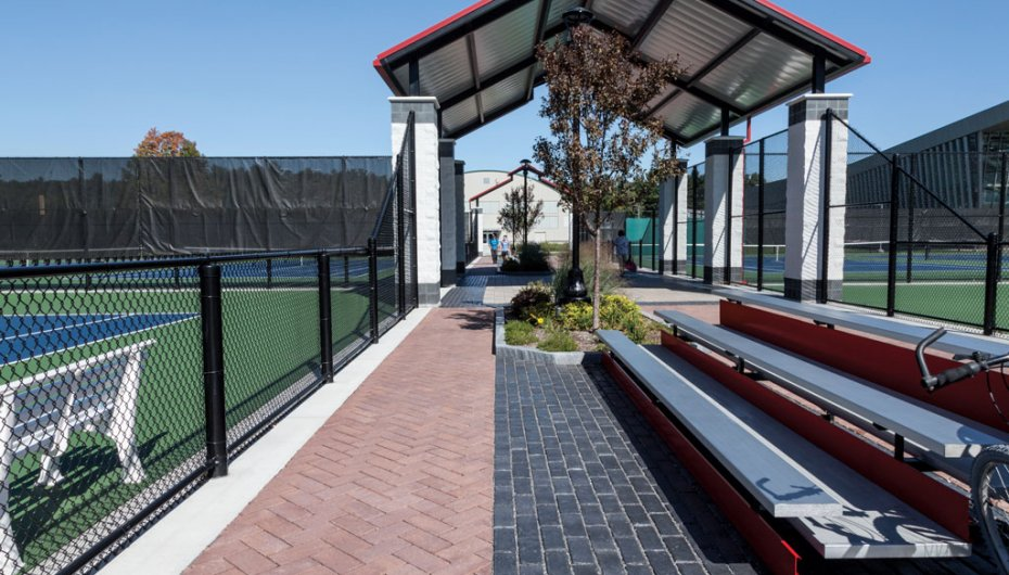 SUNY Cortland Tennis Courts, NY Product: Town Hall®, Eco-Priora™ Color: Basalt, Heritage Brown