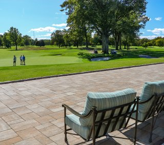 Upper Montclair Country Club. Montclair, NJ<br>Product: Bristol Valley in Sierra with Easy Clean™ Stain Resistance
