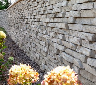 Ursuline College, Pepper Pike, OH | Product: Rivercrest® Wall with Ledgestone™ Coping in Buff