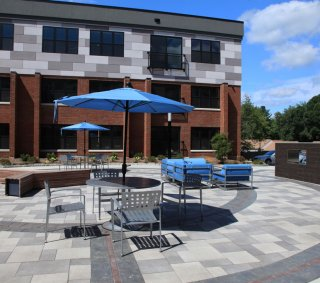 Bishops Place West Hartford, CT <br> Product: Umbriano® with Copthorne® and Richcliff accents  Color: Winter Marvel, Midnight Sky