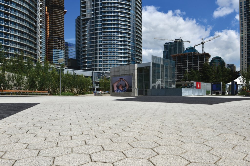 Hex City Park Paver in Series Finish at York Quay Toronto