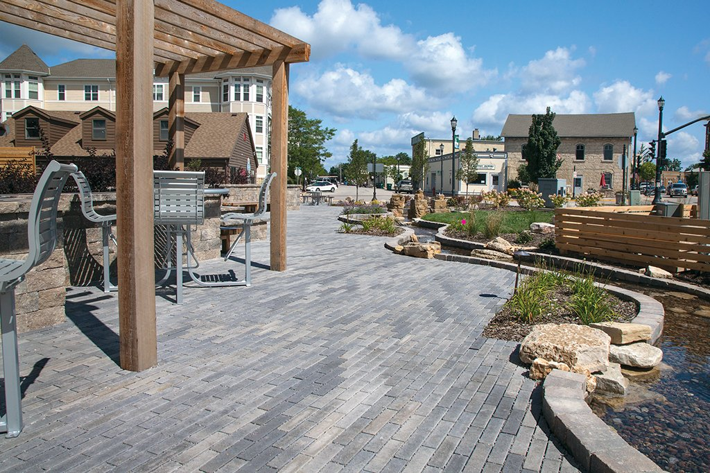 Grafton Lumberyard, Grafton, WI <br>Product: Eco-Promenade in Granite Blend