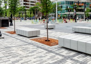 Fountain Square, Evanston, IL <br> Product: 3x12