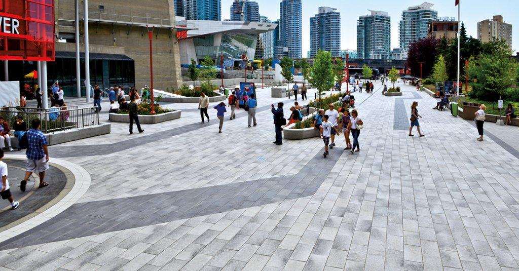 Public Plaza in Umbriano® at CN Tower Toronto