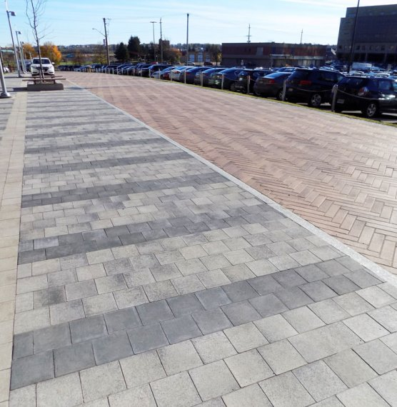 Downing Street Revitalization, Moncton NB <br> Product: Umbriano® Color: Autumn Sunset, Midnight Sky, Summer Wheat, Winter Marvel