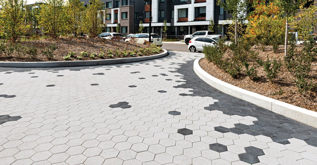Hex City Park Paver in Series Finish